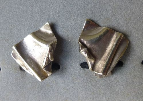 C.G.Melcher Sterling silver earrings -clips