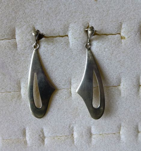 Stil-Sterling silver long earrings - clips