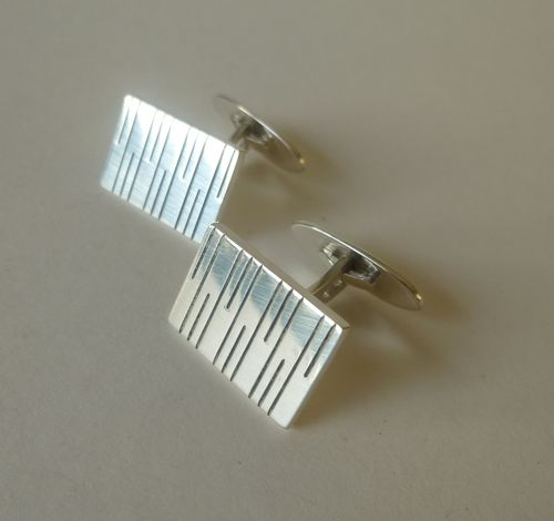 Aarre & Krog Sterling silver rectangular cufflinks
