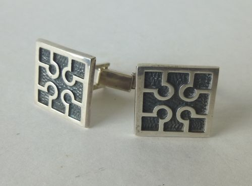 Ola Gorie Sterling silver Burrian cross cufflinks