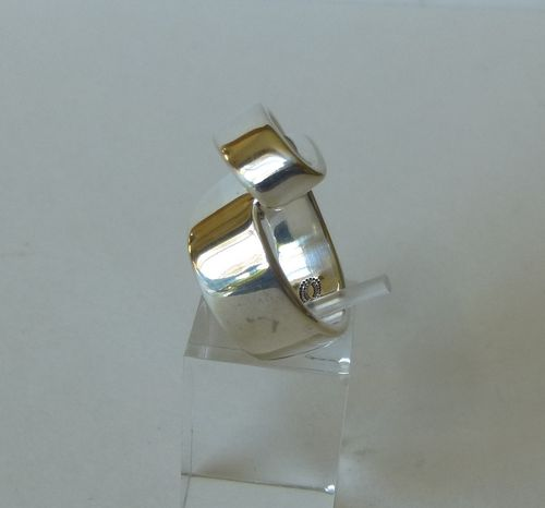 Georg Jensen Sterling silver 'Flip' ring by Gail Spence, size N