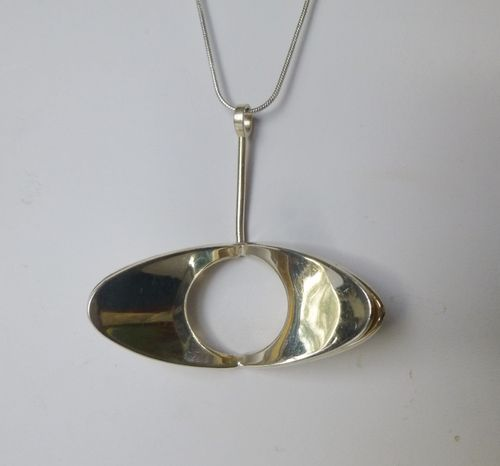 Alton Theresia Hvorslev Sterling silver  huge pendant + chain