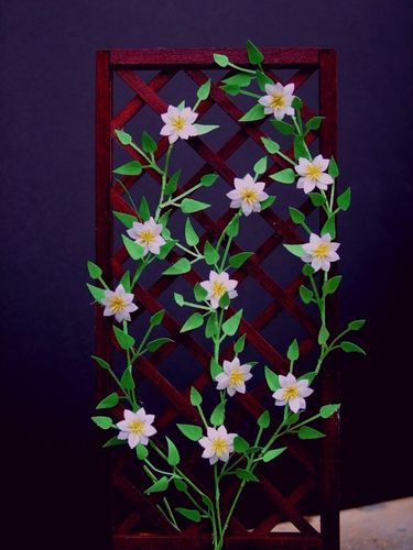 NEW - 12th scale laser cut Clematis 'Huldine' Kit