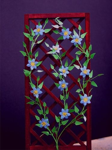 NEW - 12th scale laser cut Clematis 'Perle d'Azur' Kit