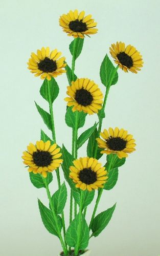 NEW - 12th scale laser cut Sunflower Kit
