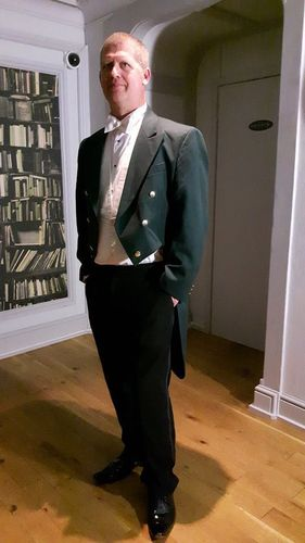 "Gents 38"" to 46"" Green Evening Dress Tail Coats"