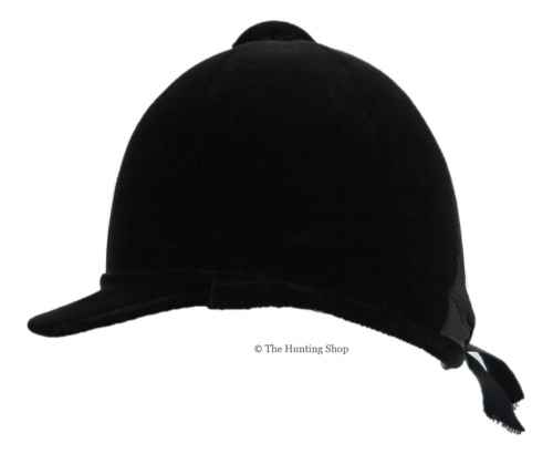 51cm Herbert Johnson, Black Hunt Cap