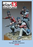 On the 71st! Three figure vignette: 54mm Officer & 2 privates 71st regt Spain/Waterloo