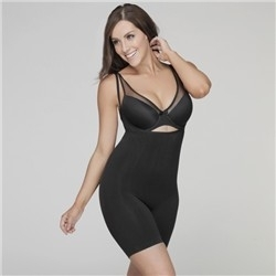 Your Secret Under Bust Bodysuit - Long Leg - Black