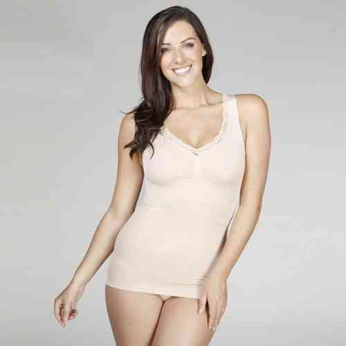 Your Secret Shapewear Camisole - Love & Lace detail - Nude