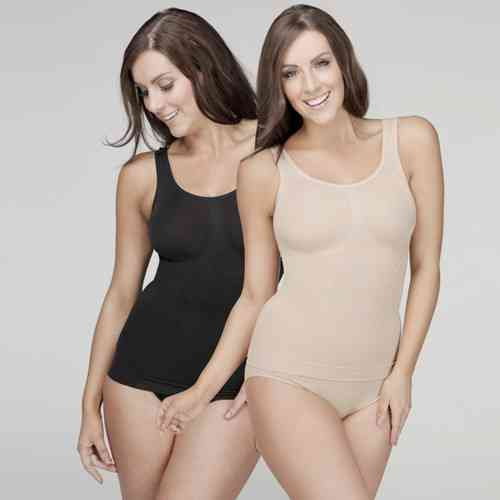 Your Secret Control Shapewear - Long Tank - 2 Pack - Black&Nude