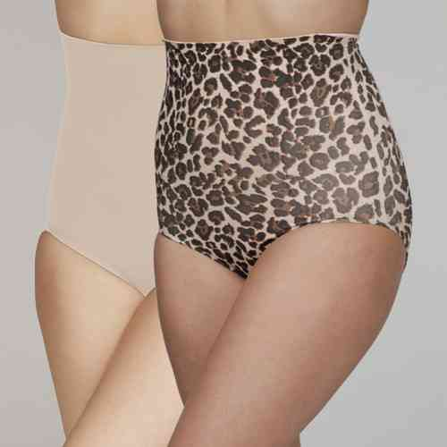 Your Secret Control High Waist pants - 2 pack - Leopard print & Nude
