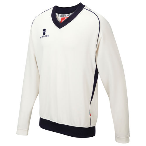 Surridge Curve Cricket Long Sleeve Sweater Youth