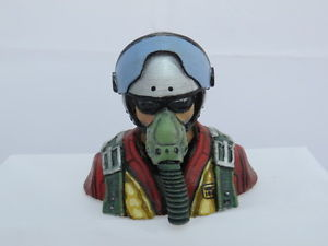 4101 Jet Pilot Bust Mask on with shades