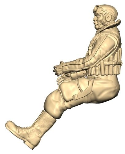 2304 WW2  Full body Japanese Pilot