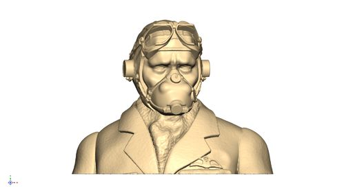 2113 WW2 RAF pilot bust mask on goggles up