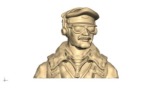 2115 WW2 USAAF pilot bust with cap and shades