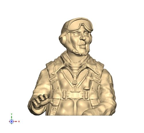 2118 WW2 USAAF deep bust pilot with B8 goggles
