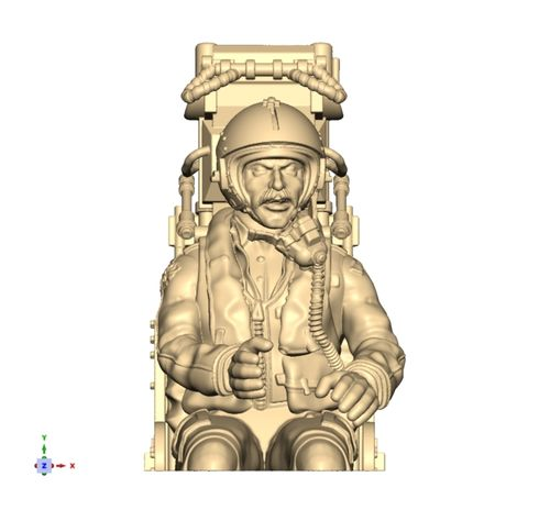 4401 Modern thigh cut jet pilot in MB Mark 2 ejector seat