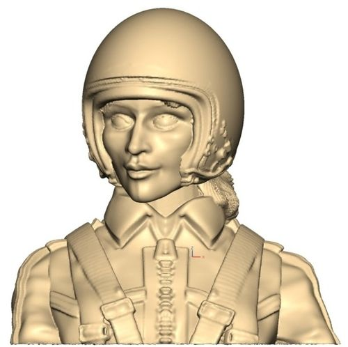 3101 Civil Leisure Female pilot bust with helmet