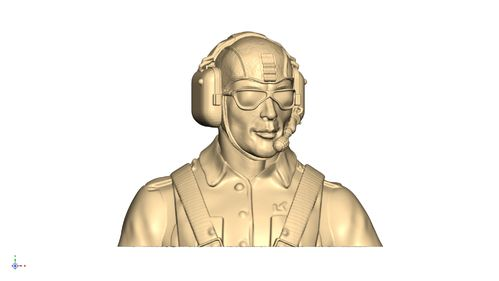 3102 Civil Leisure Male pilot bust with goggles