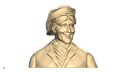 3103 Civil Leisure Male pilot bust with cap reversed