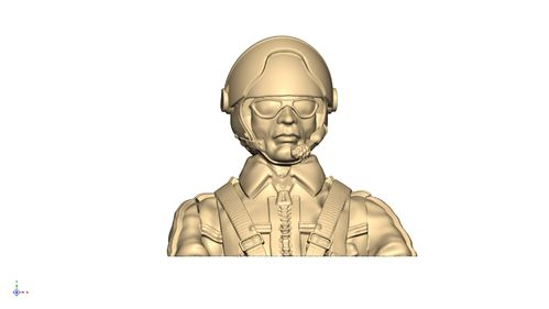 3104 Civil Leisure Male pilot bust with helmet and shades