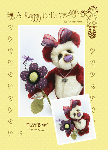 Tiggy Artist Bear Sewing Pattern