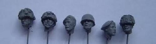 WH35001, 1/35th scale WWII British Para Heads (6 heads)