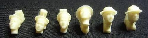 WH35002, 1/35th scale WWII Royal Navy Heads (6 heads)