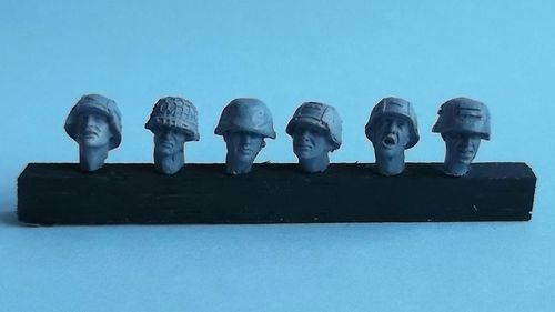 WH35006, 1/35th scale WWII German Heads set 2 (6 heads)