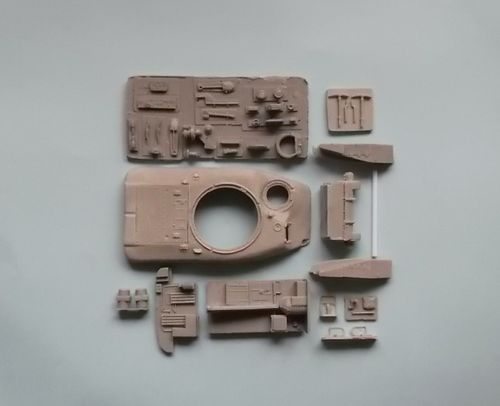 WVC48002, 1/48th scale Canadian Ram MkII Series 4 Kangaroo conversion (M3 parts with sub turret)