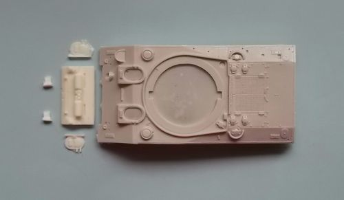 WVC48014, 1/48th scale M4A2 (Welded Drivers Hoods (incl rear hull plate, exhaust mufflers)