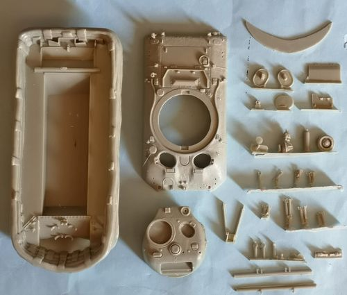 WVC48040, 1/48th scale M4A1 Sherman II DD (large hatch) conversion