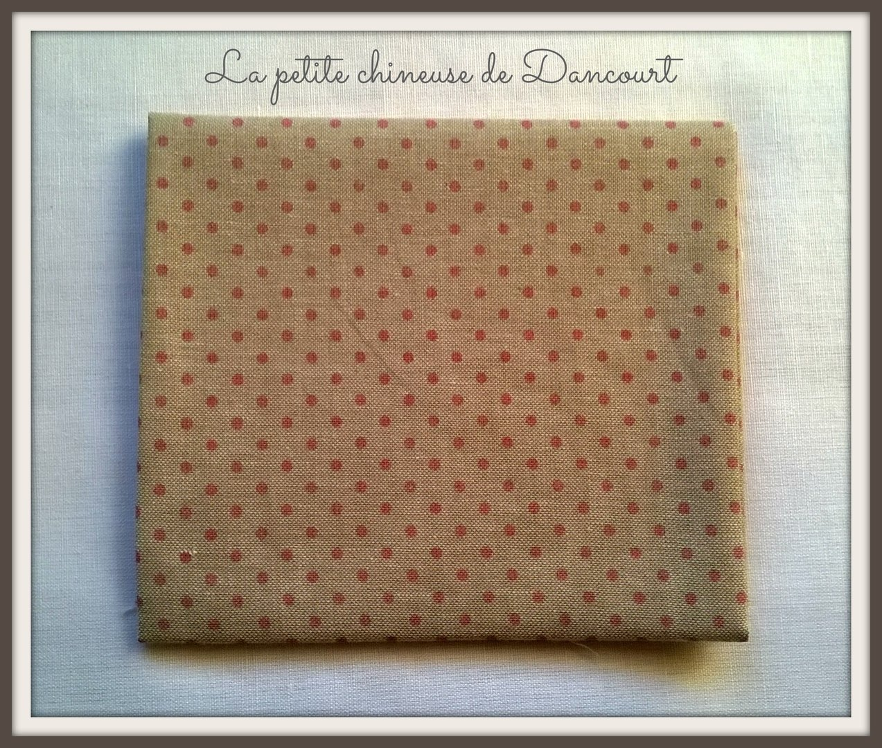 Coupon de tissus Mas d'Ousvan Dots chambray rouge