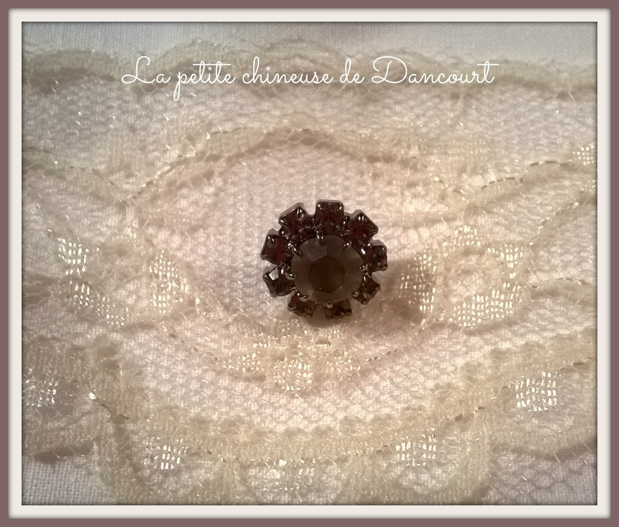 Bouton 11mm strass black diamond