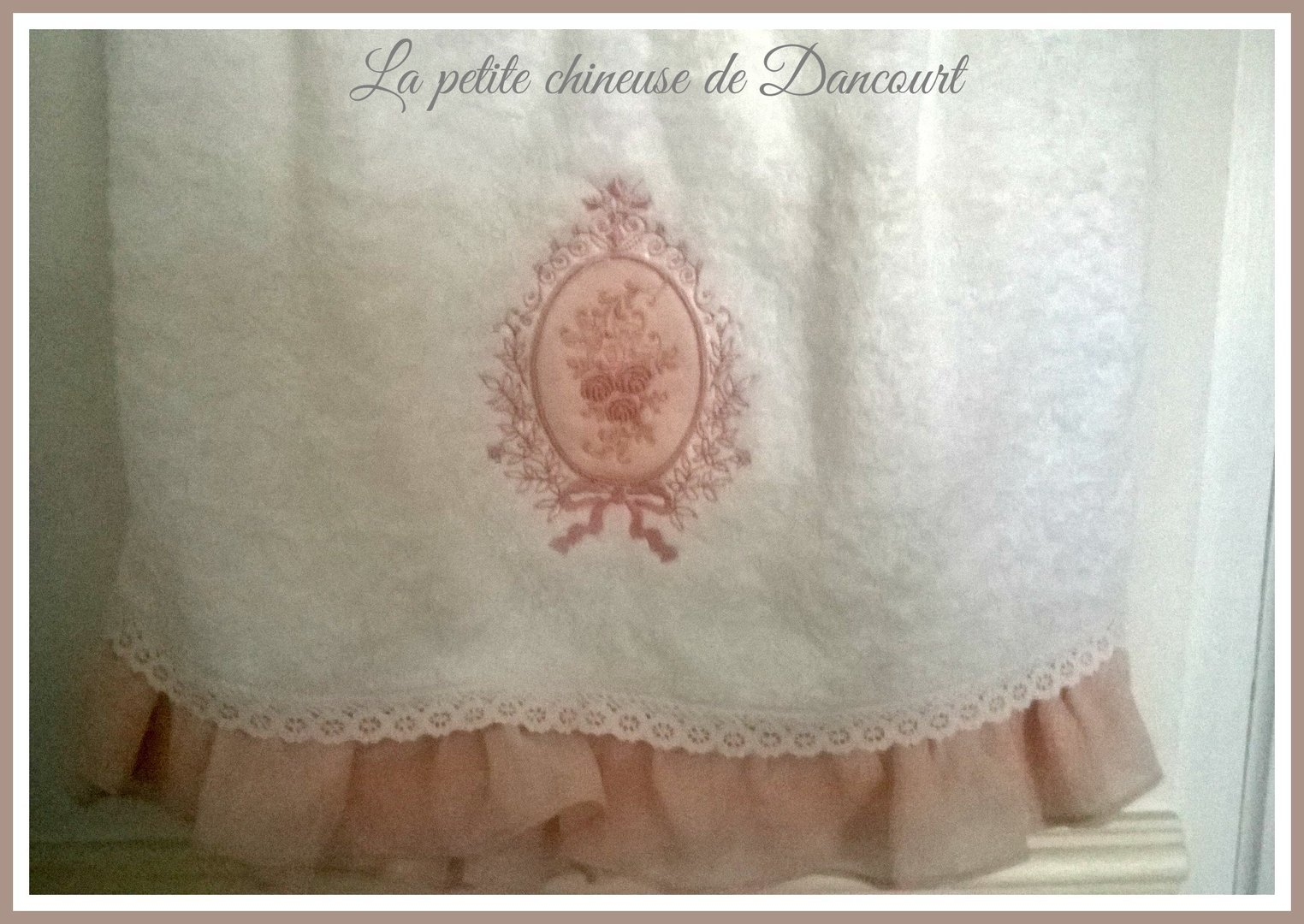 Linge de toilette collection bouquet de roses