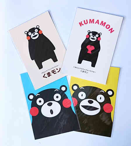KUMAMON post cards 4 pcs set