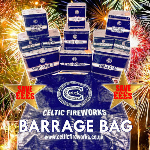 Celtic Fireworks Barrage Bag From Chorlton Fireworks