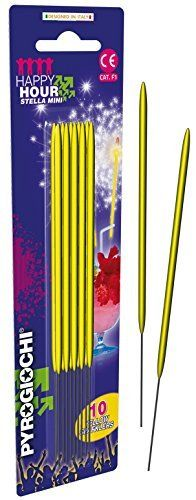 Bright Yellow Sparklers - Pack Of 10