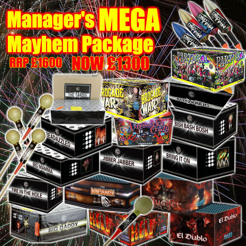 Mayhem Firework Package - Fireworks Shops
