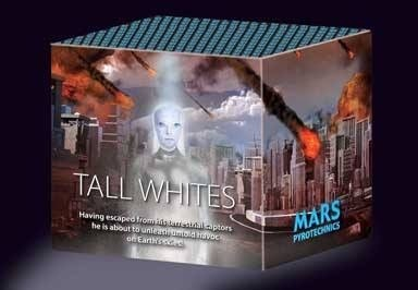 Tall White From Mars Pyrotechnics
