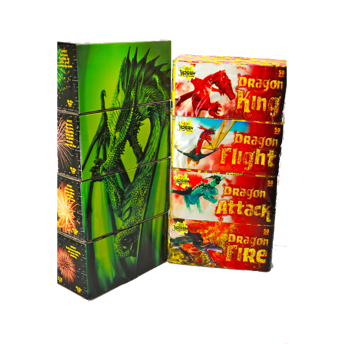Green Dragon Barrage Pack - Jigsaw Fireworks