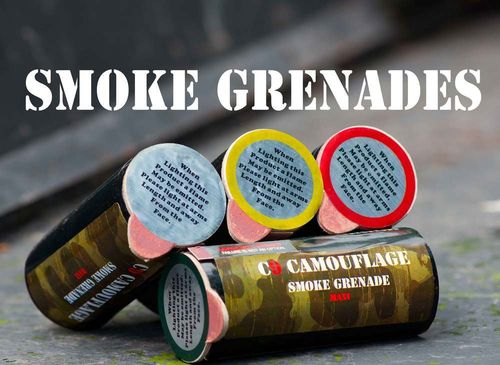 Orange Smoke Grenades