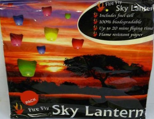 4 x Sky Lantern Packs of 2