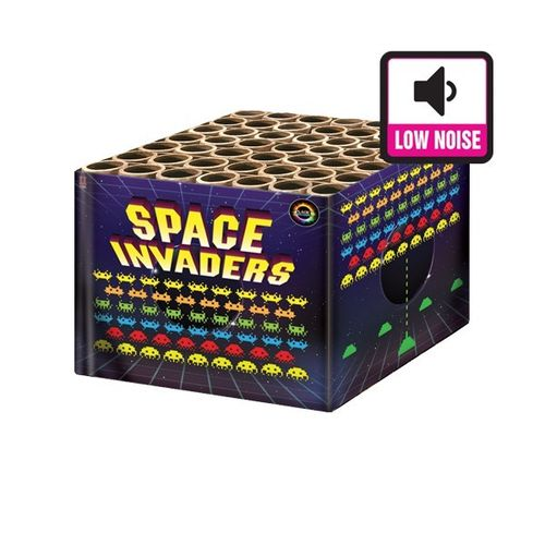 Space Invader From Planet Fireworks