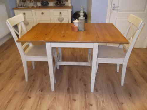 Dropleaf table & 2 chairs # # # SOLD # # #