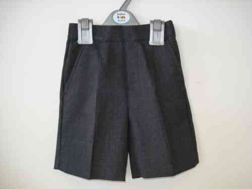 Grey fly-front shorts