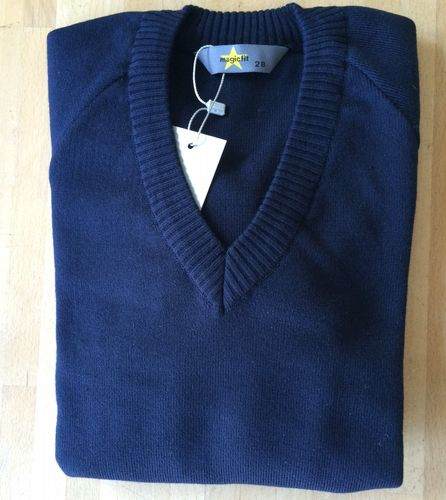 Eveline Navy Cotton Jumper
