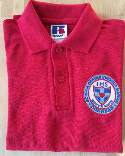 Donhead Reception Red Polo